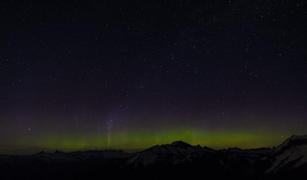 Aurora over Picket range