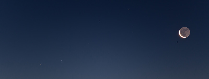 Old moon at dawn