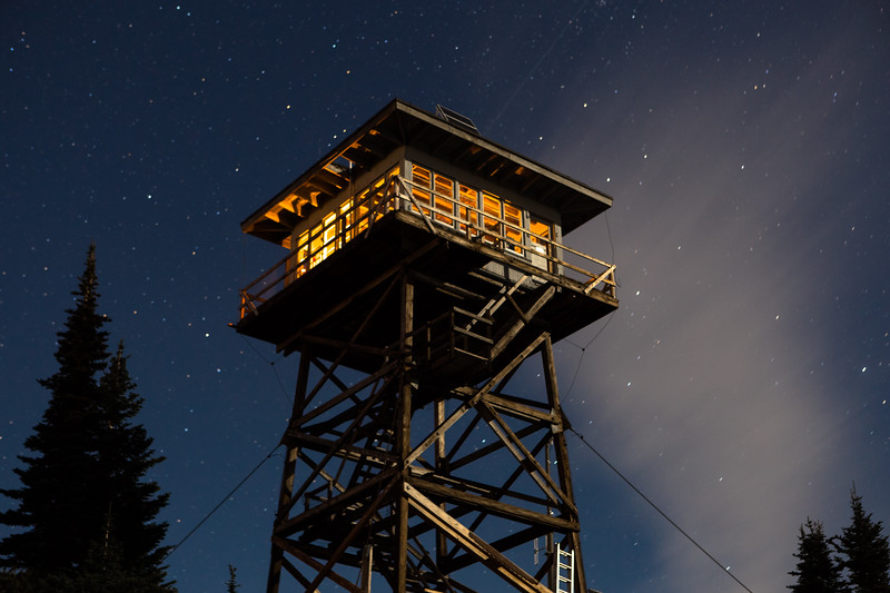 Moonlit lookout