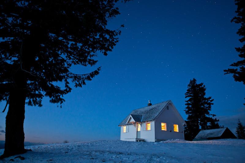 Winter's dawn light