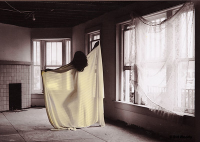 Yellow Wrap Silhouette in the Oregon District *
