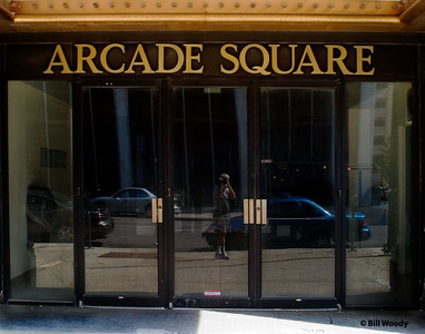 Arcade Square Taken on my first (photo) visit.  On the second visit, the bold brass letters were gone.