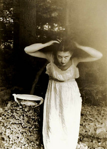 Homage to Stieglitz: Self-Portrait with Birdbath