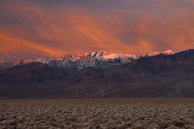 Fiery mountains.