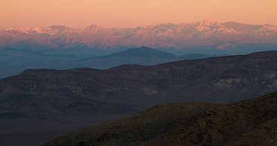 Layers of mountains forming the Amargosa range - from Dante's view