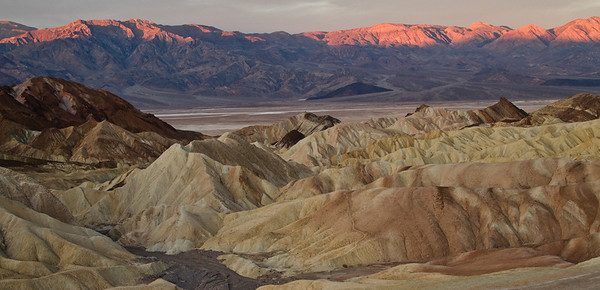 Dawn as seen from Zabriske point.