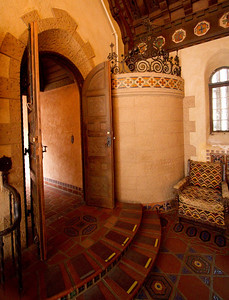 Ornate entrance to the music room. Scotty's castle.