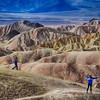 Zabriskie Point in the Afternoon in Death Valley in California