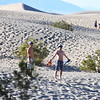 Enjoying the Mesquite Sand Dunes in Death Valley National Park in California