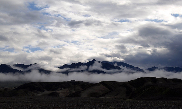 Death Valley - Morning Clouds and Mist