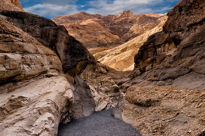 """Exiting a Titus Canyon Wash"""