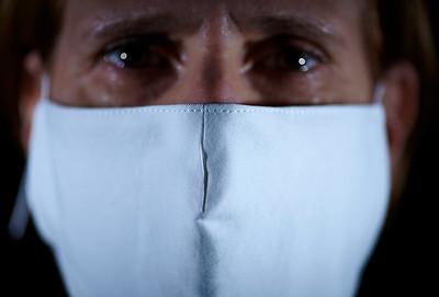 March 29, 2020- New York, NY    Filter mask prototypes 2 Deborah Johnson  Photographer- Robert Altman Post-production- Robert Altman