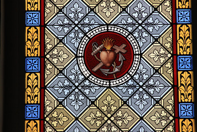 Stained (painted) glass detail - St. Mary's Praha