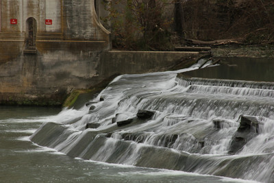 Waterfall and old Power Plant - Seguin, TX