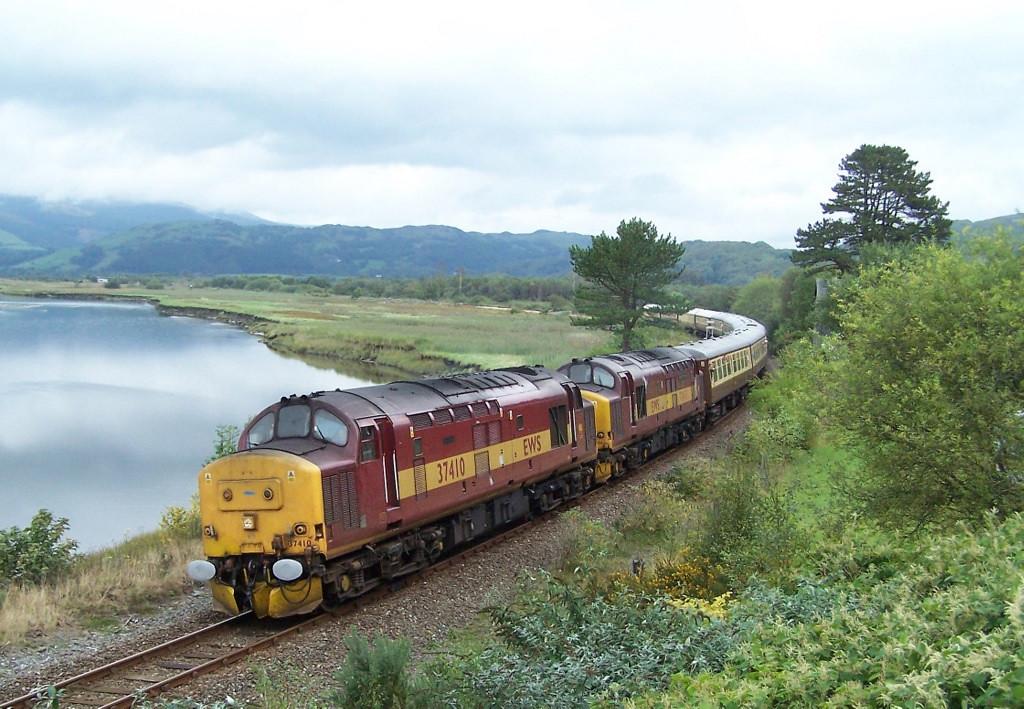 37410 and 37417, Dovey Estuary. September 2007.