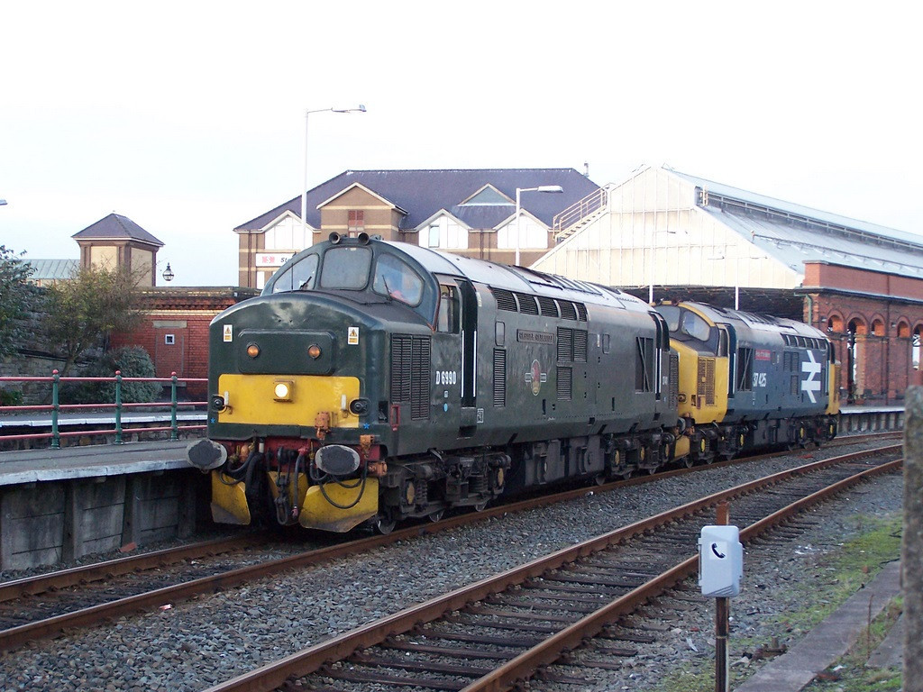 37411 and 37425, Holyhead. October 2007.