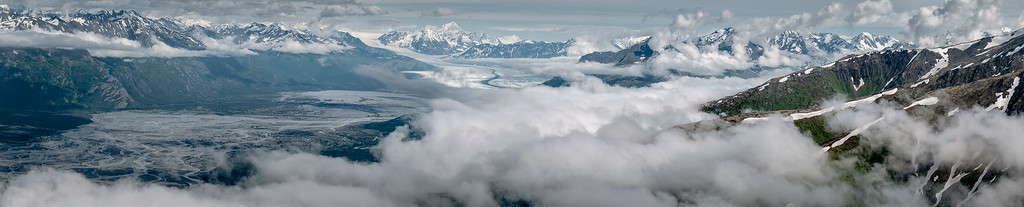 Knik Glacier as seen from the Pioneer Ridge. Just outside Anchorage, Alaska. 2008.
