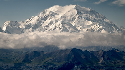 View of Mt. McKinley in Denali National Park. Above the Eielson Visitor Center. Alaska.