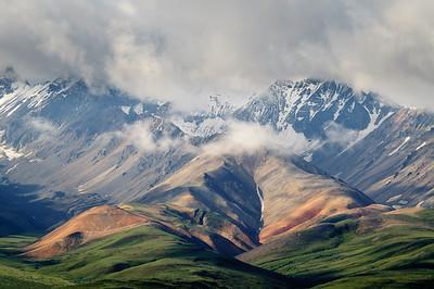 Polychrome pass. Denali. Alaska