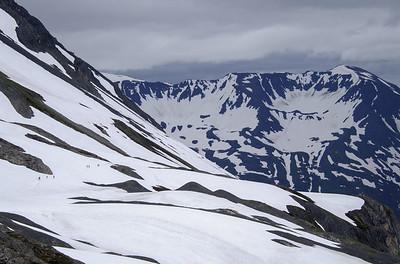 Near the overlook of the Harding Icefield. Alaska