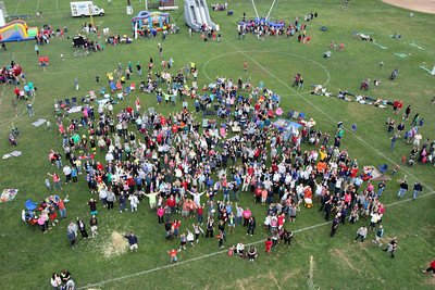 The Denville Centennial Picnic taken from 65-75' on the Denville Ladder Truck by Ward Vogt Designs & Photography at Gardner Field