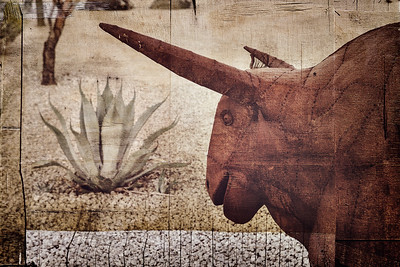 A rusty metal bull at Fairmont Hotel in Scottsdale.