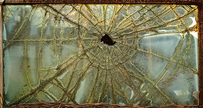 """Broken Antique Car Window"""