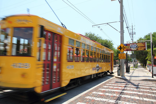 Ybor Street Car Wizzing By