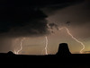Lightning strike near Devils Tower, Wyoming