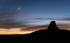 Devils Tower and Crescent Moon