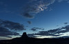 Venus and crescent moon over Devils Tower, Wyoming