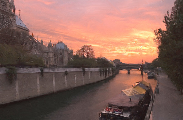 Seine River, Sunset