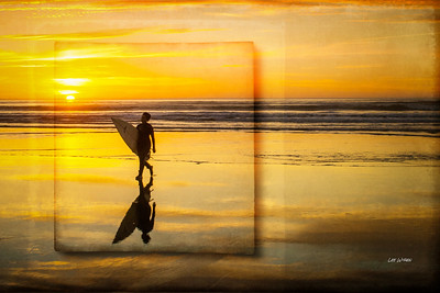 The Sunset Surfer