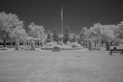 St. Mary's Park (same scene in infrared) (5 sec f/8 iso 1600 R72 filter)