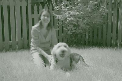 Blu and friend (same scene in infrared) (5 sec f/8 iso 1600 R72 filter)
