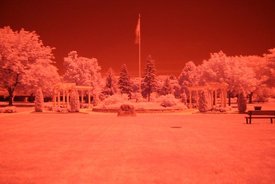 St. Mary's Park (same scene in infrared - forgot to switch to b/w) (5 sec f/8 iso 1600 R72 filter)