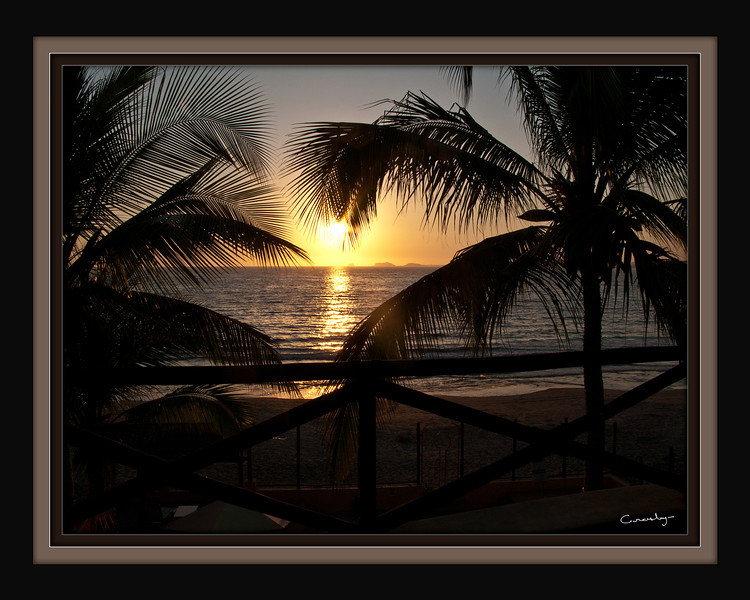 La Manzanilla, Sunset, Mexico