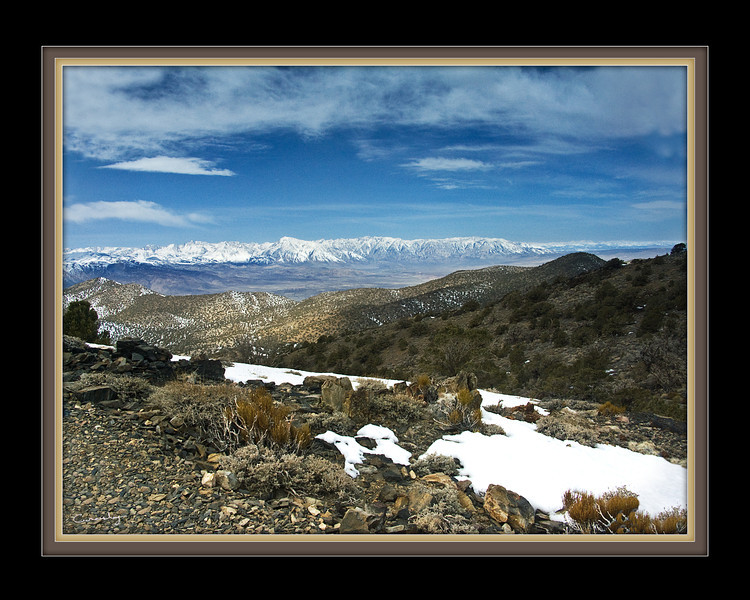 Eastern Sierras from the White Mountains, View 5, CA.
