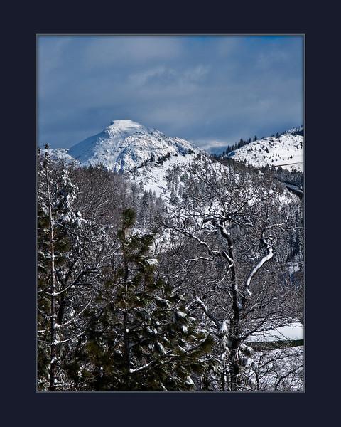 Winter in the High Sierras, CA.
