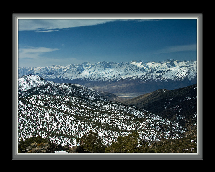 Eastern Sierras from the White Mountains, View 6, CA.