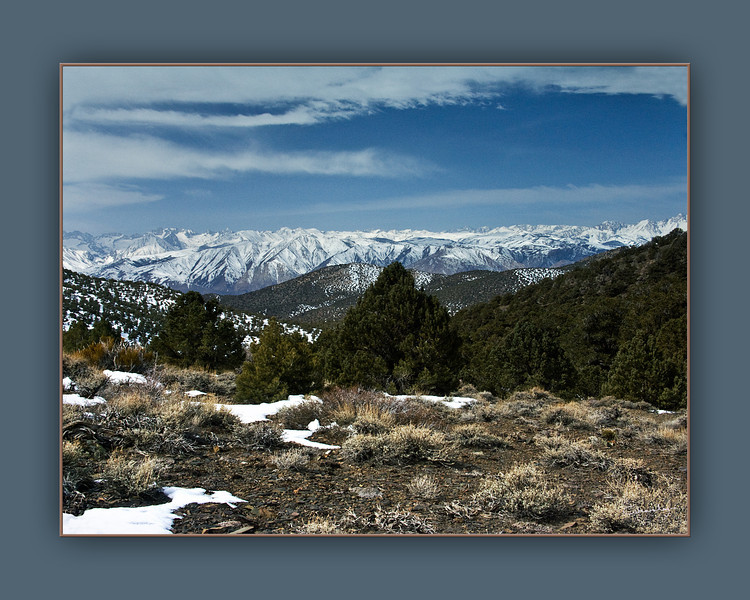 Easter Sierras from the White Mountains, View 1, CA.