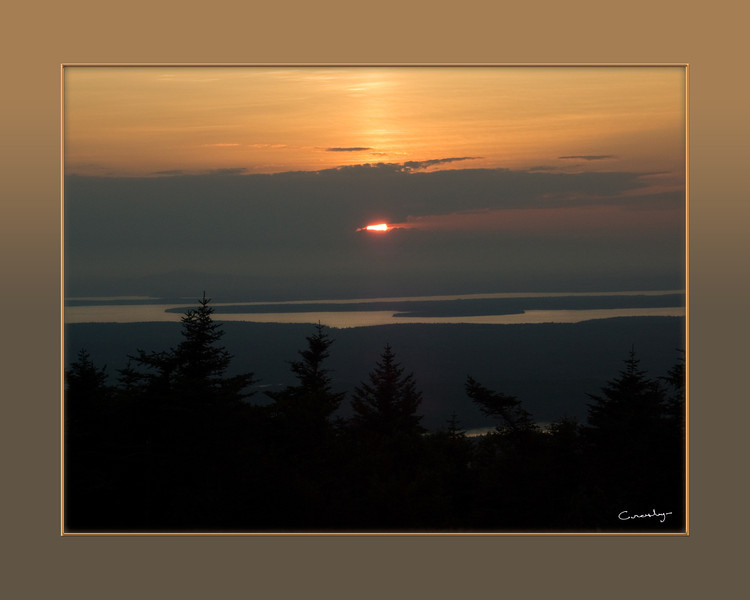 Sunset from Mt. Cadillac, Acadia NP, Maine