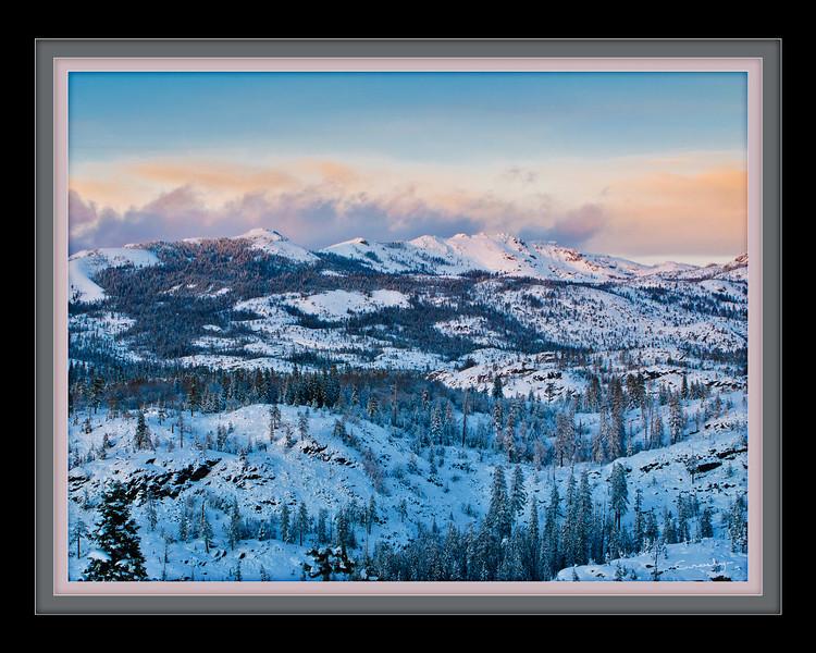 Winter Sunset, High Sierra, CA.