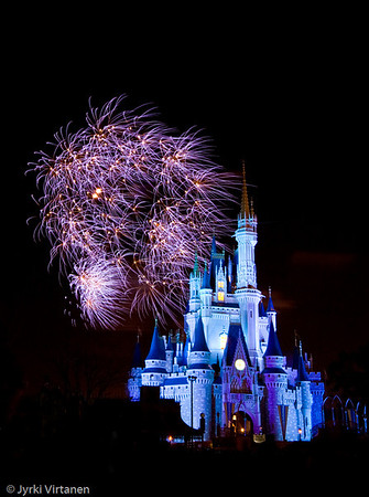 Fireworks at Cinderella Castle - Disney World, Orlando, FL, USA