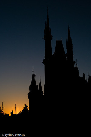 Cinderella Castle at Dusk - Disney World, Orlando, FL, USA