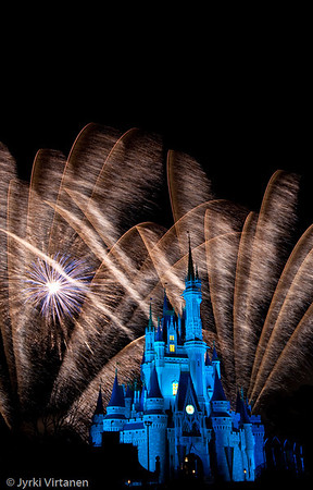 Fireworks at Cinderella Castle II - Disney World, Orlando, FL, USA