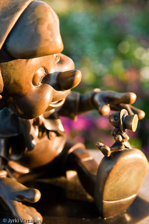 Pinocchio with Jiminy Cricket - Disney World, Orlando, FL, USA