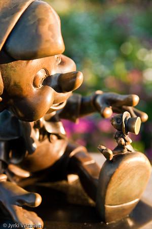 Pinocchio with Jiminy Cricket - Disney World, Orlando, FL, USA
