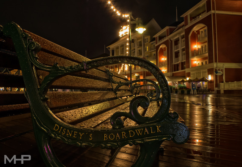 Wet Night on the Boardwalk.