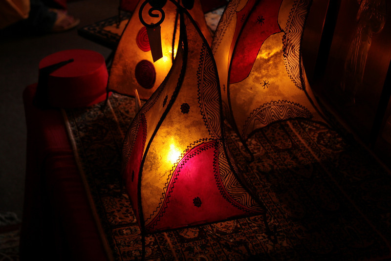 Lamps in the gift shop of the Morocco Pavilion, Epcot®